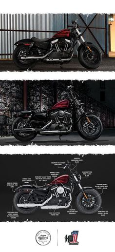 More low-slung Dark Custom attitude than ever, from its fat front end to its cast aluminum wheels. | 2017 Harley-Davidson Forty-Eight