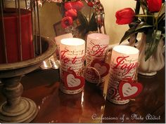 CONFESSIONS OF A PLATE ADDICT Easy French Script Valentine Candles