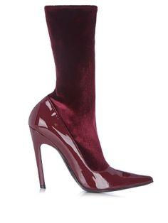 d3addfefe337 Boudoir velvet and leather ankle boots   Balenciaga   MATCHESFASHION.COM UK  Wedge Boots,
