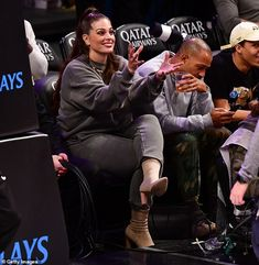 """Step out in style like Ashley wearing sock boots by Ego Click """"Visit"""" to buy now from Daily Ma. Ashley Graham, Stepping Out, Basketball Games, Houston Rockets, Put On, Bodybuilding, Husband, Celebrities, Fashion Finder"""
