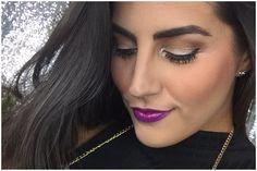 Maquillaje para la noche con Labios morados