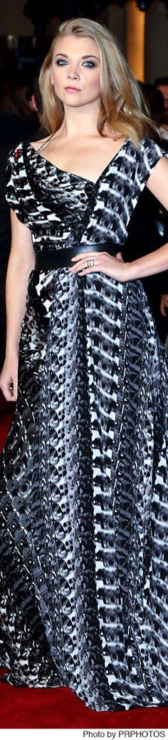 Natalie Dormer wearing Ong-Oaj Pairam Dress - The Hunger Games: Mockingjay - Part 2 UK Premiere on November 5, 2015