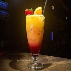 New Girl Cocktail - For more delicious recipes and drinks, visit us here: www.tipsybartender.com