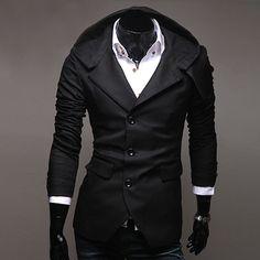 #Men's Casual Hooded Blazer