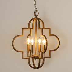 Features:  -Finish: Brushed gold.  -Style: Transitional.  Fixture Type: -Foyer pendant.  Style: -Glam/Traditional.  Shade Material: -Metal.  Bulb Type: -Incandescent.  Number of Lights: -4.  Voltage: