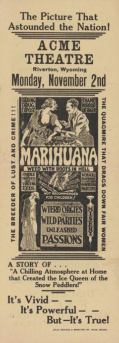 Marihuana (1936, USA)  Em 1936 já tinha filme de Maconha!!! E as consequências já eram dramáticas!!!
