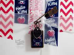 Create an adorable Hello Kitty charm with washi tape from Love My Tapes!