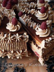 Za ovu tortu suvišno je napisati bilo šta. Jednostavno se mora probati. Savršen poljubac čokolade i malina će vas osvojiti na prvi zalog... Fun Baking Recipes, Pastry Recipes, Cookie Recipes, Dessert Recipes, Torte Recepti, Kolaci I Torte, Sweet Cookies, Cake Cookies, Sweet Desserts
