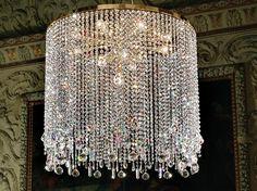 Suspension incandescente en métal pour éclairage direct avec cristaux IMPERO VE…