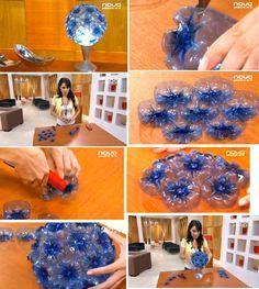 Diy Crafts Hacks, Diy Crafts For Kids, Home Crafts, Fun Crafts, Plastic Bottle Flowers, Plastic Bottle Crafts, Recycle Plastic Bottles, Recycled Bottles, Recycled Crafts