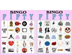 Fifties Sock Hop Bingo Printable - Click Image to Close 1950s Theme Party, 50s Theme Parties, Summer Party Themes, Party Ideas, 50s Sock Hop, Sock Hop Party, 50s Party Decorations, Grease Party, Food Socks