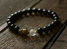 Men's Beaded Bracelet, Buddha Bracelet Men Yoga Jewelry Tibetan Buddhism Jewelry Healing Chakra Bracelet, Men's Jewelry, Power Beaded Buddha by CandiedBohemian, $33.70 @Etsy