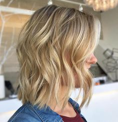 Golden Blonde Bob With Platinum Highlights