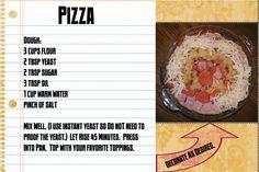 Recipes of pizza
