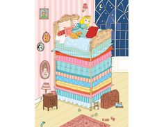 cute princess and the pea art ~ by kasia dudziuk