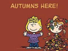 Autmn's here! With Sally & Linus