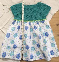Crochet top dress Pattern only approx. Crochet Crop Top, Crochet Blouse, Cute Crochet, Knit Crochet, Crochet Bodycon Dresses, Crochet Baby Clothes, Crochet Woman, Dress Patterns, Baby Dress