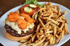 Poe's Tavern on Sullivan's Island makes some of the best burgers in Charleston, SC. The restaurant has a colorful atmosphere that pays homage to the island's most famous resident, Edgar Allan Poe.