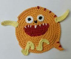 Aplique 2: Série Monstros em crochet
