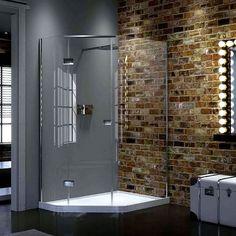 Matki New Illusion Quintesse Offset Corner Enclosure With Raised Tray Shower Enclosure, Steam Shower Enclosure, Enclosure, Shower Doors, Small Bathroom With Shower, Corner Shower, Contemporary Bathroom Designs, Shower Tray, Large Shower