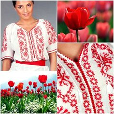 On a hot summer day it is nice to wear something that makes you feel comfortable, and also gives you a touch of elegance. This model of our tradtional Romanian Blouse carries with itself a cheerful colour and the embroidery that represented by stylized leaves and flowers give you a modern air!  #florideie #fashion #trend #style #romaniandesign #red #colorful #flowers #summer #fresh #unique #embroidery Summer Fresh, Summer Days, Make You Feel, How To Make, How To Wear, Colorful Flowers, Leaves, Touch, Colour