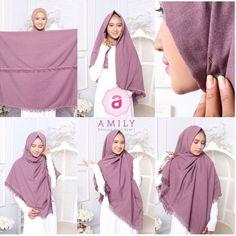 Hijab Syari Rectangle Four Tutorial Hijab Syari Rectangle Tutorial Hijab Casual, Hijab Chic, Hijab Turban Style, Stylish Hijab, Ootd Hijab, Tutorial Hijab Segi 4, Simple Hijab Tutorial, Hijab Style Tutorial, Muslim Fashion