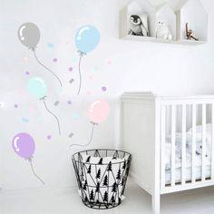 Naklejka ścienna balony konfetti pastelowe kolory  - moreclock - Naklejki na ścianę dla dzieci Hani, Etsy, Home Decor, Decoration Home, Room Decor, Home Interior Design, Home Decoration, Interior Design