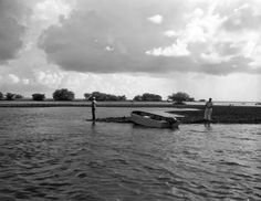 This 1959 Florida Memory photograph shows men fishing on Santa Rosa Island.