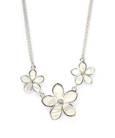Take a look at this Mother-of-Pearl Triple Daisy Necklace by J.Reneé  on #zulily today!