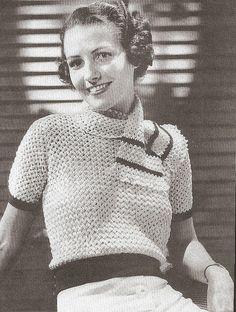 1935 Crocheted Blouse by blueprairie, via Flickr
