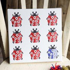Canvas Coccinelle - ladybug design coordinates with Studio Mick's Coccinelle collection.