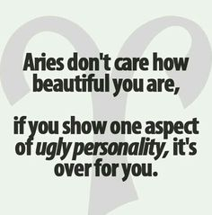 we don't care what you look like in general, but you best not have an ugly personality ...