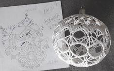 Crochet Christmas Ornaments, Christmas Crochet Patterns, Crochet Snowflakes, Snowflake Ornaments, Christmas Bulbs, Christmas Decorations, Holiday Decor, Crochet Ball, Thread Crochet