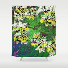 Fern Tripn Shower Curtain #new #tropical #fern #forest of #flowers #bright #fun #photographic #art on #shower #curtains for #bath #bathroom #apartment #home #decor by Vikki Salmela #Society6