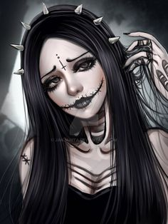 by on Badass Drawings Demon Drawings Tattoo Drawi Tatto Drawings Fille Anime Cool, Cool Anime Girl, Anime Art Girl, Gothic Anime Girl, Badass Drawings, Demon Drawings, Tattoo Drawings, Art Drawings, Gothic Fantasy Art