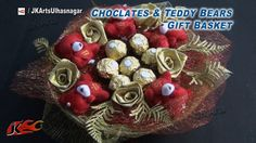 DIY Chocolates and teddy bear gift basket  | Valentine's Day Gift Idea |...