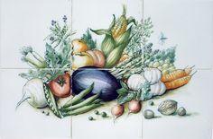 handgeschilderd tegeltableau in kleur op 6 Harlinger witjes