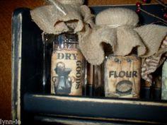 primitive jar labels free | Primitive Farmhouse Wood Wooden Spice Shelf Jars Labels Tag Pantry ...