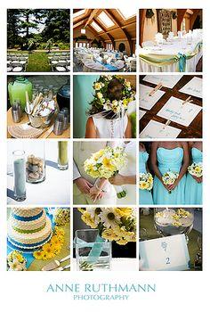 Teal%2C+Green%2C+%26+Yellow+Wedding+Detail+Inspiration+Board