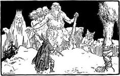 Illustrations from The Heroes of Asgard by C.E. Brock Odin visits Jotunheim