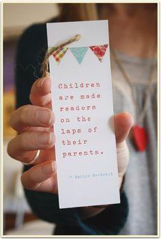 Book Baby Shower ~ adorable bookmark party favor idea