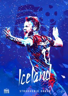 Iceland : Strákarnir okkar = Our Boys! Soccer Cup, Youth Soccer, Soccer Stars, Play Soccer, World Cup Russia 2018, World Cup 2014, Fifa World Cup, World Cup 2018 Teams, Football Art
