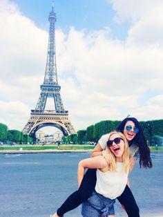 Best friend travel abroad trip, paris, friends in Europe, Eiffel Tower, instagram picture ideas, summer, trip with friends, bucket list, France