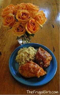 Crockpot orange chicken! My family's FAVORITE. You'll never guess what ingredients are used! Delicious, and SO EASY!