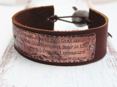 Etched Leather and Copper Bracelet  Special by Impressionisms, $68.00