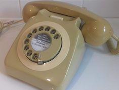 Original Vintage Retro 1970's GPO 746 Rotary Dial Topaz (mustard) Telephone