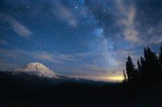 Rainier and the Milky Way.