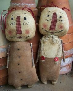 Raggedy Browns Annie and Andy Primitive dolls 144 epattern