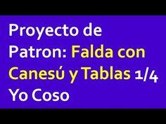 Proyecto de Patron: Falda con Canesú y Tablas 1/4 – Curso de costura