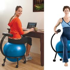 I should replace my home desk chair with this. Custom-Fit Balance Ball Chair by Gaiam from Gabrielle Bernstein on OpenSky Workout Guide, Workout Gear, Athletic Events, Ball Chair, Home Desk, School Decorations, Sports Equipment, Gabrielle Bernstein, Gadgets